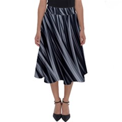 Fractal Mathematics Abstract Perfect Length Midi Skirt