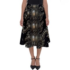 Fractal Math Geometry Backdrop Perfect Length Midi Skirt