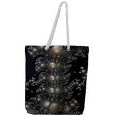Fractal Math Geometry Backdrop Full Print Rope Handle Tote (large) by Sapixe