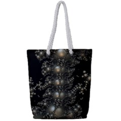 Fractal Math Geometry Backdrop Full Print Rope Handle Tote (small) by Sapixe