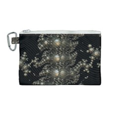 Fractal Math Geometry Backdrop Canvas Cosmetic Bag (medium)