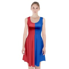 Red And Blue Racerback Midi Dress