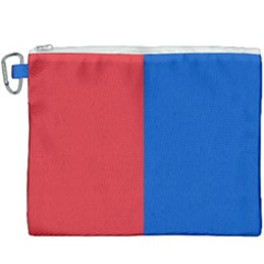 Red And Blue Canvas Cosmetic Bag (xxxl) by jumpercat