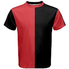 Red And Black Men s Cotton Tee