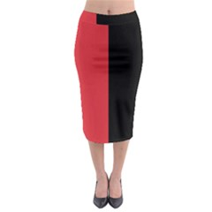 Red And Black Midi Pencil Skirt