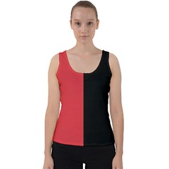 Red And Black Velvet Tank Top