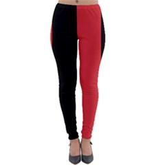 Red And Black Lightweight Velour Leggings