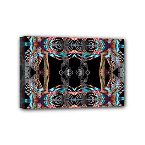 Fractal Math Design Backdrop Mini Canvas 6  X 4  by Sapixe