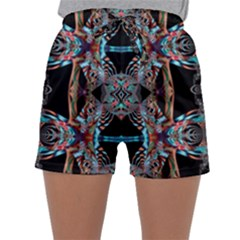 Fractal Math Design Backdrop Sleepwear Shorts