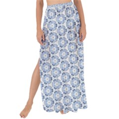 Abstract Ornament Tiles Maxi Chiffon Tie Up Sarong
