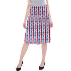 Arabic Ornament Stripes Midi Beach Skirt