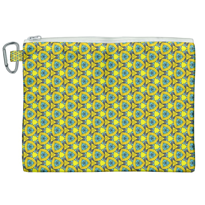 Mechanical Pattern Canvas Cosmetic Bag (XXL)