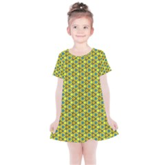 Mechanical Pattern Kids  Simple Cotton Dress