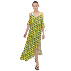 Mechanical Pattern Maxi Chiffon Cover Up Dress by jumpercat