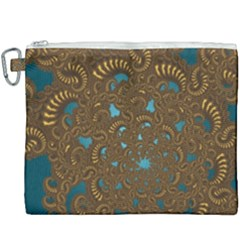 Fractal Abstract Pattern Canvas Cosmetic Bag (xxxl)