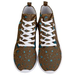 Fractal Abstract Pattern Men s Lightweight High Top Sneakers
