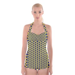 Arabesque Stars Boyleg Halter Swimsuit