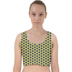 Arabesque Stars Velvet Racer Back Crop Top