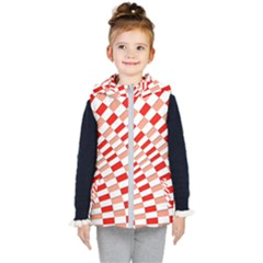 Graphics Pattern Design Abstract Kid s Hooded Puffer Vest by Sapixe