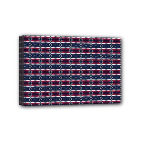 Elegant Dark Stripes Mini Canvas 6  X 4  by jumpercat