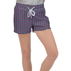 Elegant Dark Stripes Women s Velour Lounge Shorts