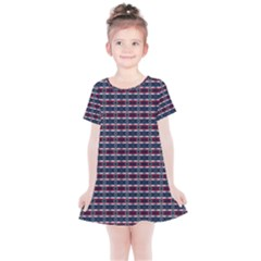 Elegant Dark Stripes Kids  Simple Cotton Dress by jumpercat