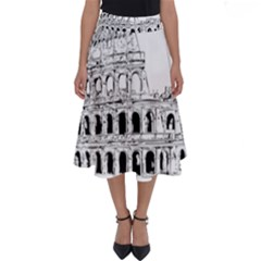 Line Art Architecture Perfect Length Midi Skirt