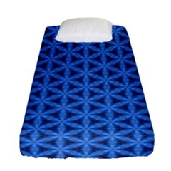 Blue Snake Scales Pattern Fitted Sheet (single Size) by jumpercat