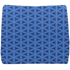 Blue Snake Scales Pattern Seat Cushion
