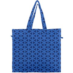 Blue Snake Scales Pattern Canvas Travel Bag by jumpercat