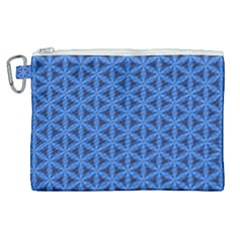 Blue Snake Scales Pattern Canvas Cosmetic Bag (xl) by jumpercat