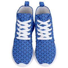 Blue Snake Scales Pattern Women s Lightweight High Top Sneakers