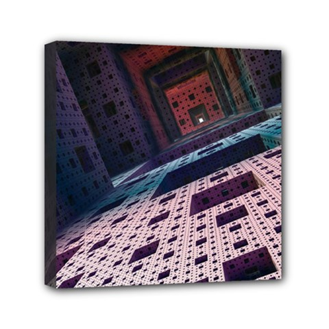 Industry Fractals Geometry Graphic Mini Canvas 6  X 6  by Sapixe