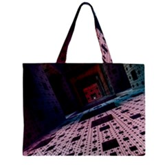 Industry Fractals Geometry Graphic Zipper Mini Tote Bag by Sapixe