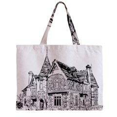 Line Art Architecture Old House Mini Tote Bag by Sapixe