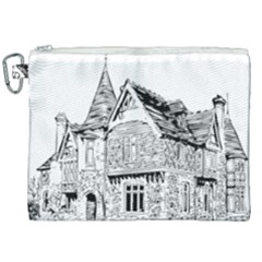 Line Art Architecture Old House Canvas Cosmetic Bag (xxl)