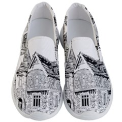 Line Art Architecture Old House Men s Lightweight Slip Ons by Sapixe
