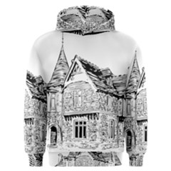 Line Art Architecture Old House Men s Overhead Hoodie by Sapixe