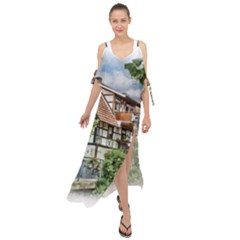 Homes Building Maxi Chiffon Cover Up Dress