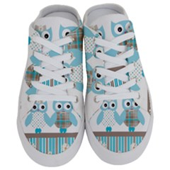 Owl Animal Daisy Flower Stripes Half Slippers by Sapixe