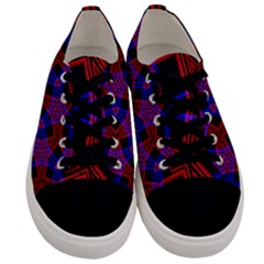 Pattern Abstract Wallpaper Art Men s Low Top Canvas Sneakers