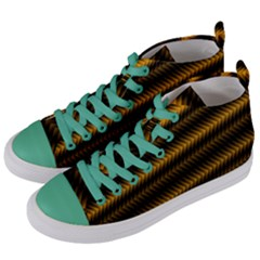 Ornament Stucco Close Pattern Art Women s Mid Top Canvas Sneakers by Sapixe