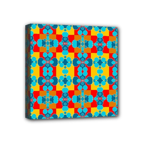 Pop Art Abstract Design Pattern Mini Canvas 4  X 4  by Sapixe