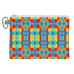 Pop Art Abstract Design Pattern Canvas Cosmetic Bag (xl)