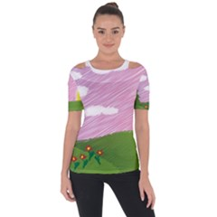 Pine Trees Trees Sunrise Sunset Short Sleeve Top by Sapixe
