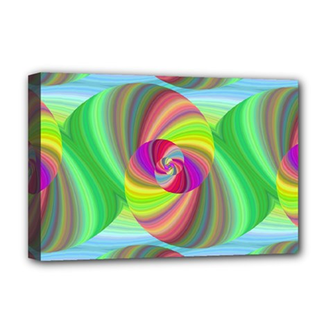 Seamless Pattern Twirl Spiral Deluxe Canvas 18  X 12   by Sapixe