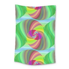 Seamless Pattern Twirl Spiral Small Tapestry by Sapixe