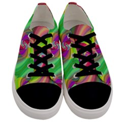 Seamless Pattern Twirl Spiral Men s Low Top Canvas Sneakers