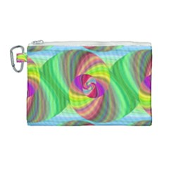 Seamless Pattern Twirl Spiral Canvas Cosmetic Bag (large) by Sapixe
