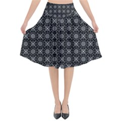Kaleidoscope Seamless Pattern Flared Midi Skirt by Sapixe